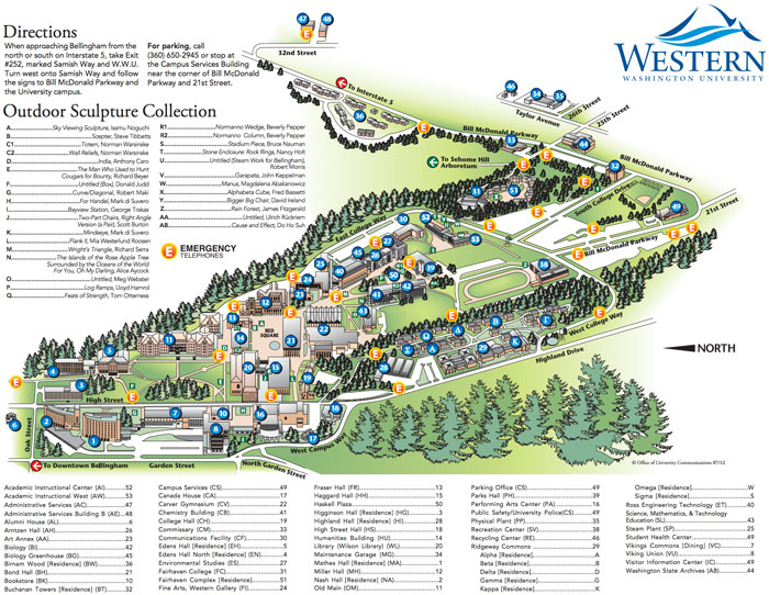 Washington University Campus Map Map   Western Washington University's Children's Literature